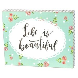 🆕 Box Sign - Life Is Beautiful